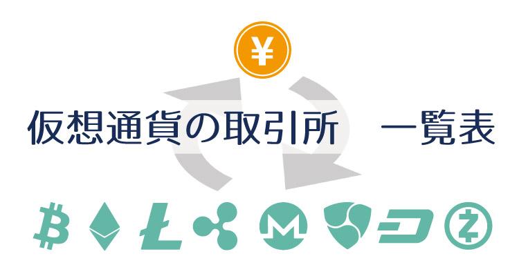 仮想通貨取引所の一覧表