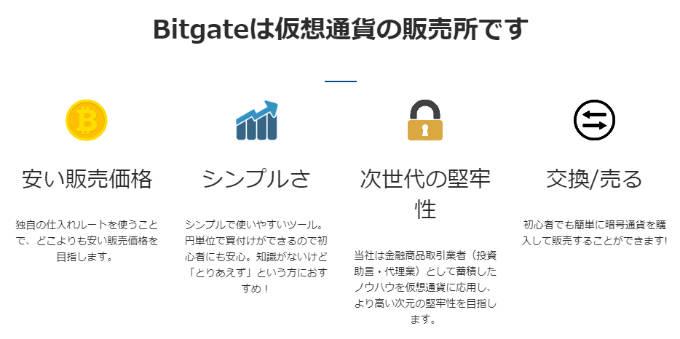 Bitgate特徴