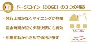 仮想通貨ドージコイン(DOGE)の特徴