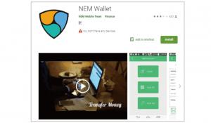 仮想通貨ネム(XEM)のスマホ・モバイルウォレット┃NEM Wallet