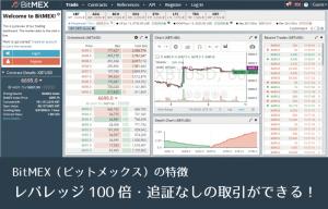 仮想通貨取引所BitMEX┃追証なし!レバレッジ100倍の取引が可能